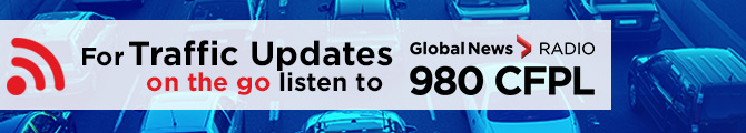 For weather updates on the go listen to 980 CFPL