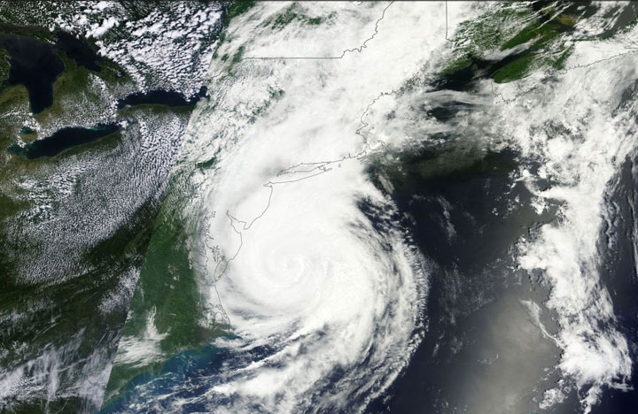 Hurricane Arthur as it makes its way towards Atlantic Canada on July 4, 2014.