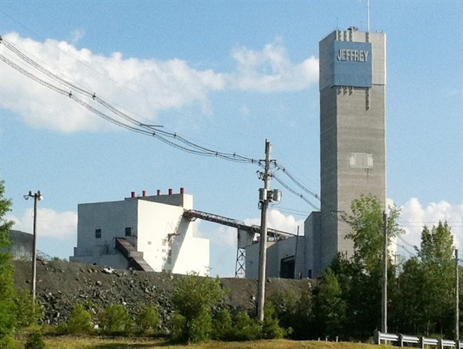 The Jeffrey Mine main processing building is shown in Asbestos, Que. on June 17, 2011. THE CANADIAN PRESS/Denis Savard.