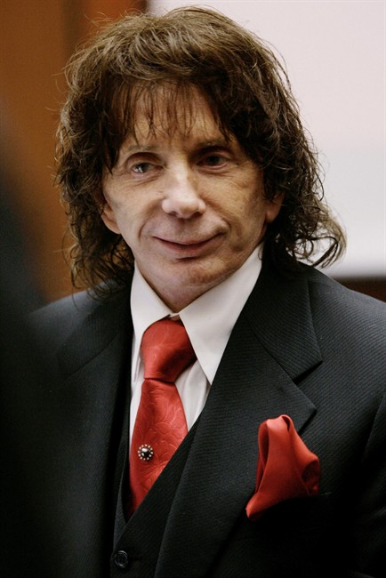 FILE - In this Jan. 26, 2009, file photo music producer Phil Spector smiles during a hearing in his murder retrial, in Los Angeles County Superior Court in downtown Los Angeles. The California Supreme Court on Wednesday, Aug. 17, 2011, refused to hear the record producer's appeal of his murder conviction. (AP Photo/Nick Ut, file).