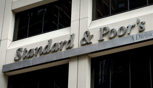 Standard & Poor's headquarters signage in New York's financial district is seen on Aug. 6, 2011.
