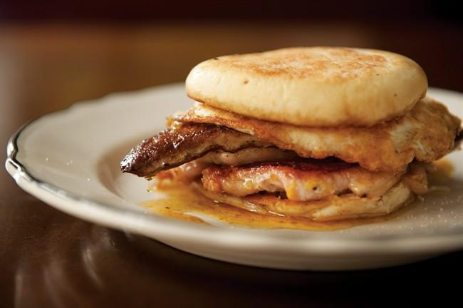 breakfast sandwich. THE CANADIAN PRESS/ho-Random House Canada-Jennifer May