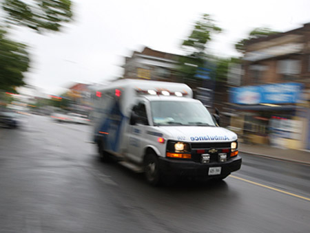 Toddler ambulance injuried
