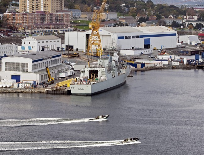 The Halifax Shipyard, owned by Irving Shipbuilding, is seen in Halifax on Oct. 18, 2011.