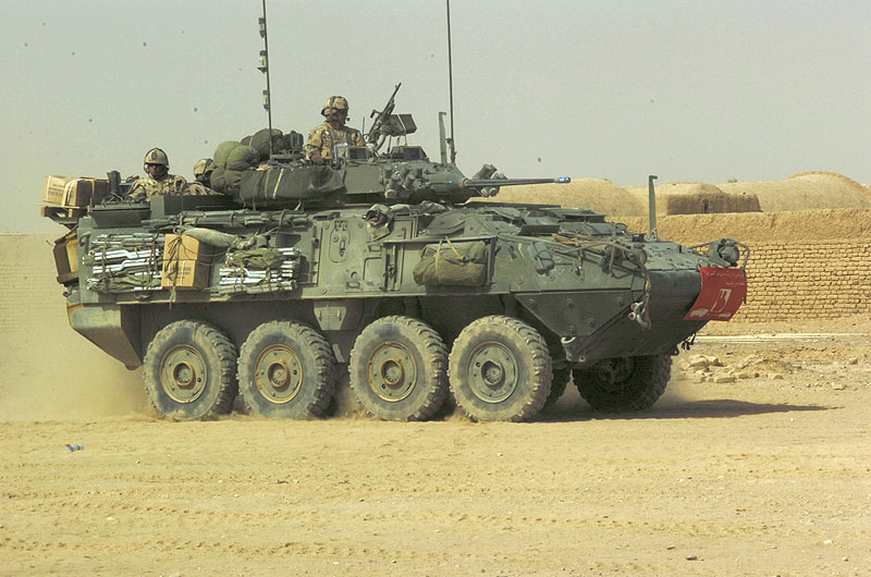File image of a Canadian Forces LAV III armoured personnel carrier.