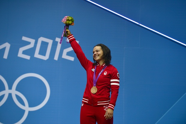 The 33 year old also competed in the Beijing 2008 competitions when she became Canada's first female Olympic weightlifting medalist with her bronze in the same weight class.