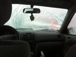Continue reading: BC's Port Mann Bridge reopens after falling ice damages vehicles