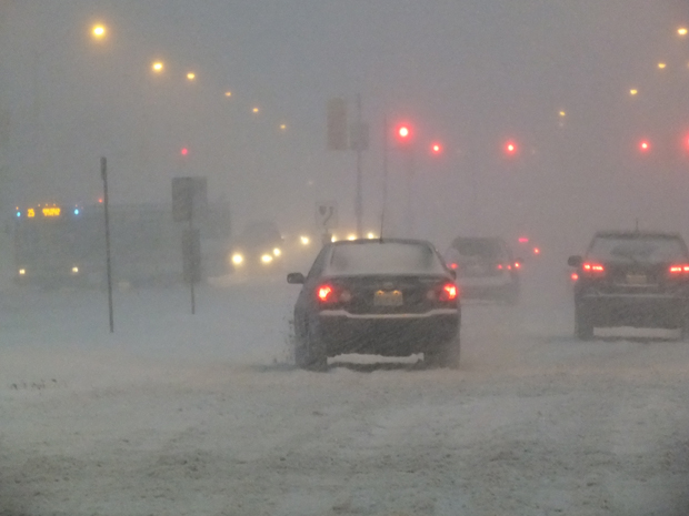 A messy commute is expected Monday morning. Flurries will end early today.