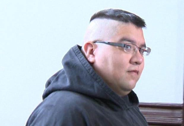 Andre Denny entering Halifax Provincial Court on Nov. 26, 2012.