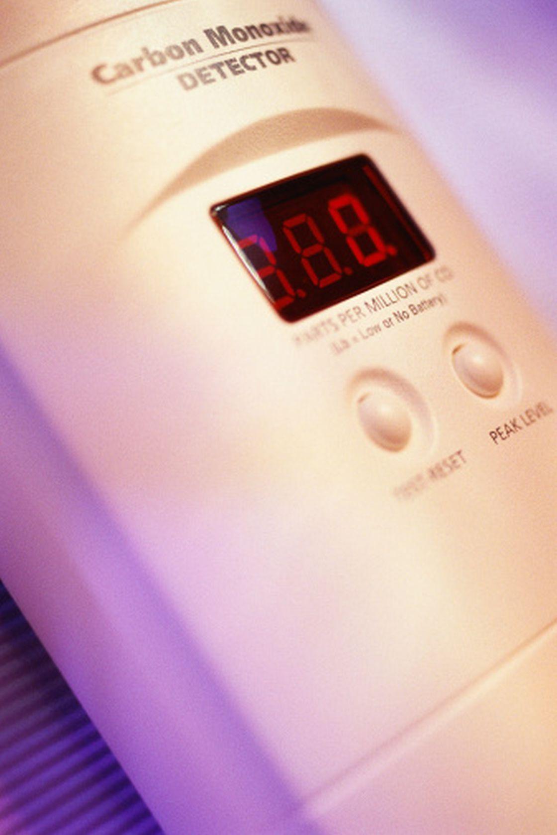 A Digital carbon monoxide detector.