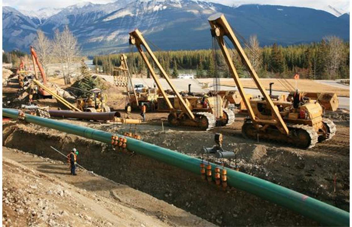 The Kinder Morgan Pipeline is seen in this file photo.