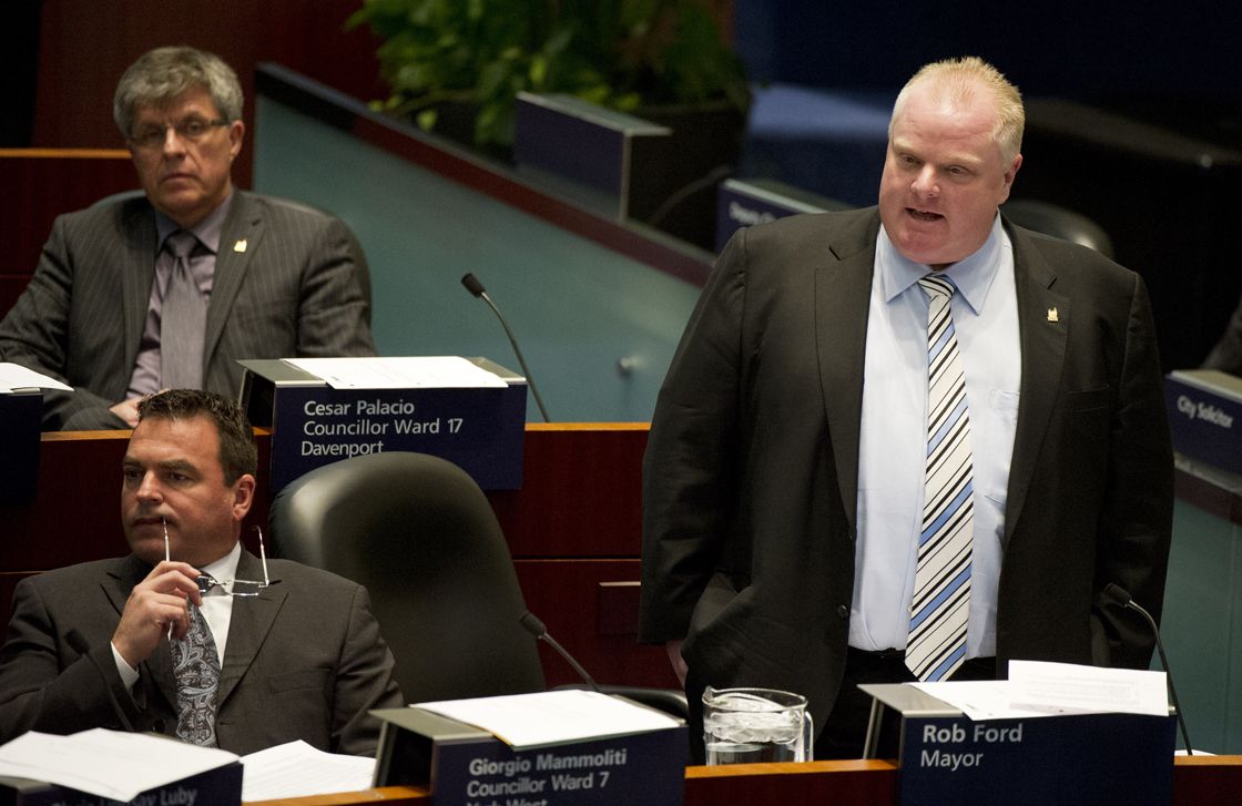 Mayor Rob Ford in Toronto city council