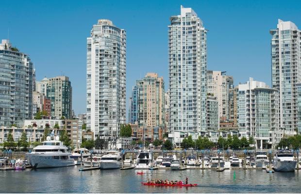 Skyline of Vancouver.