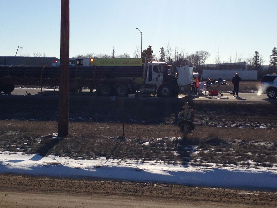Bizarre incident on Highway 2 sends one person to hospital - image