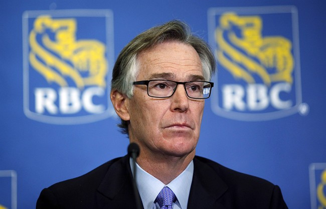 Gord Nixon, president and CEO of the Royal Bank of Canada, speaks to reporters in Calgary, in this Feb. 28, 2013 photo.