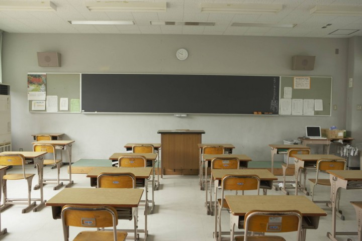 A file photo of a empty classroom.