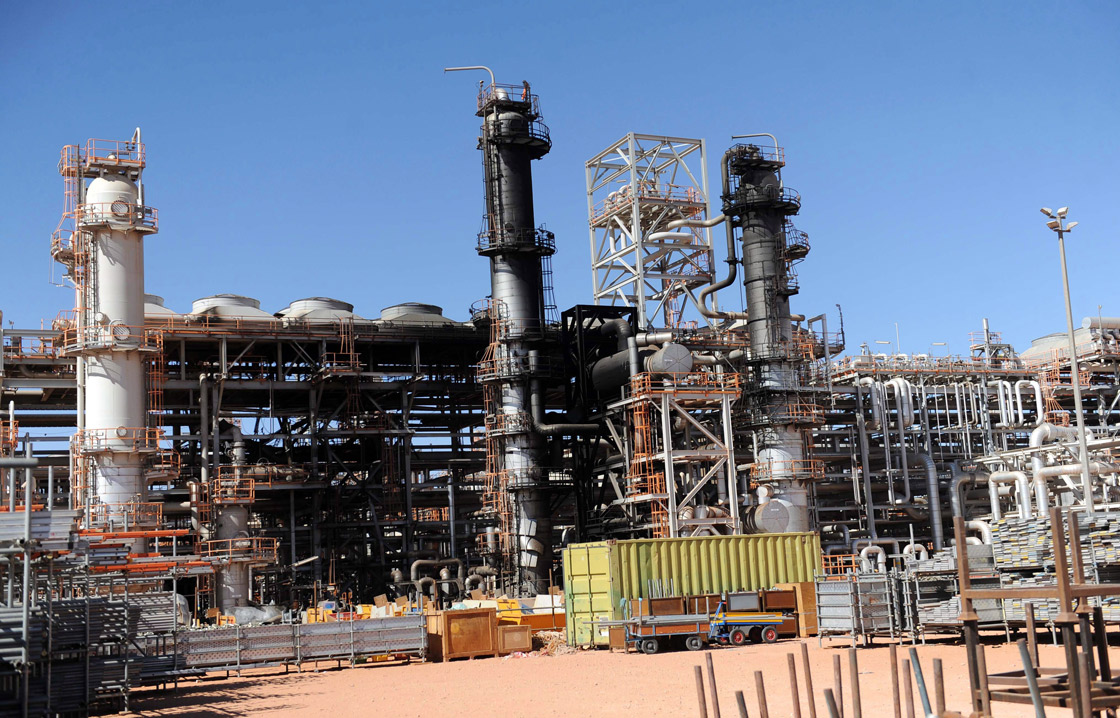 A part of the gas plant in Ain Amenas is seen during a visit for news media organized by the Algerian authorities, Thursday, Jan. 31, 2013.