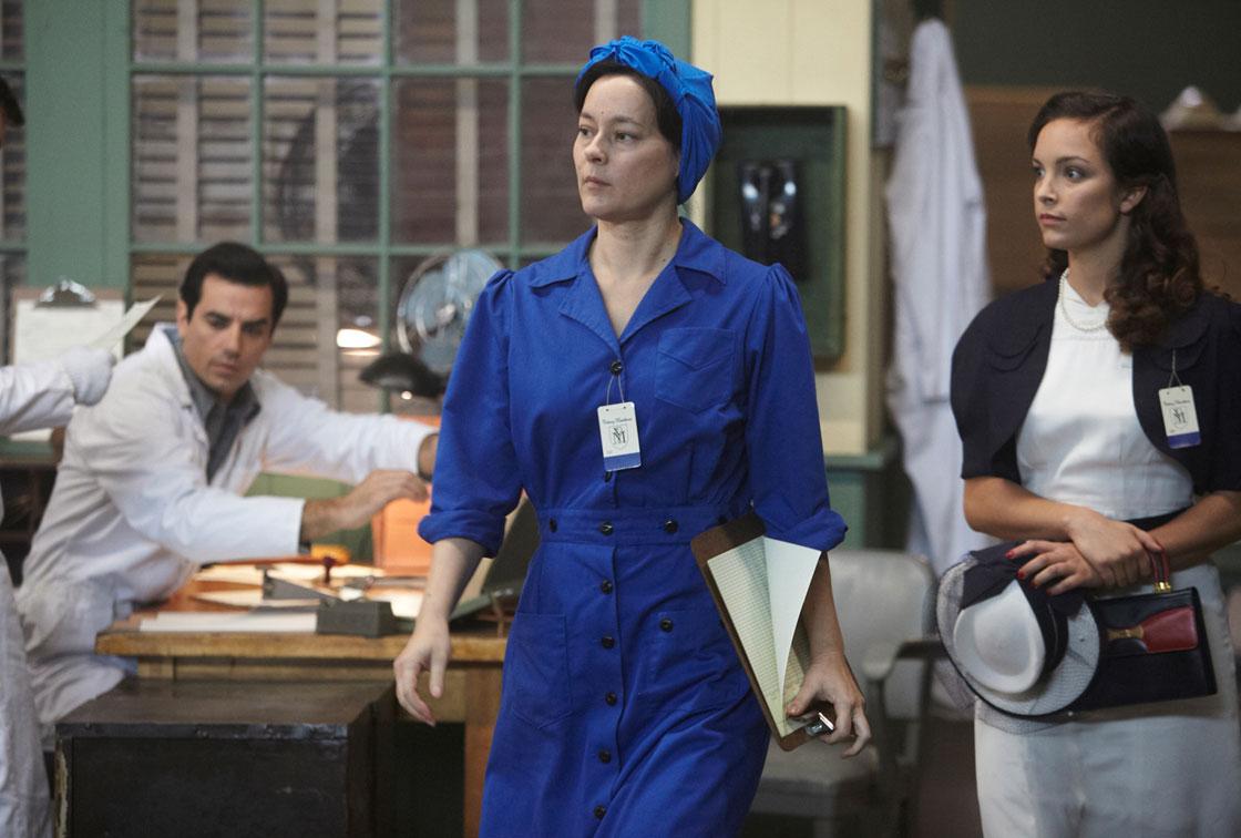Meg Tilly in a scene from Bomb Girls.