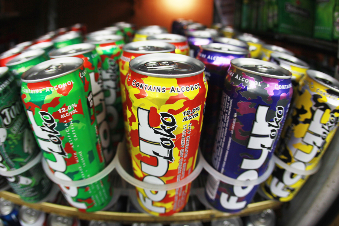 Four Loko has an alcohol content of 11.9 per cent.