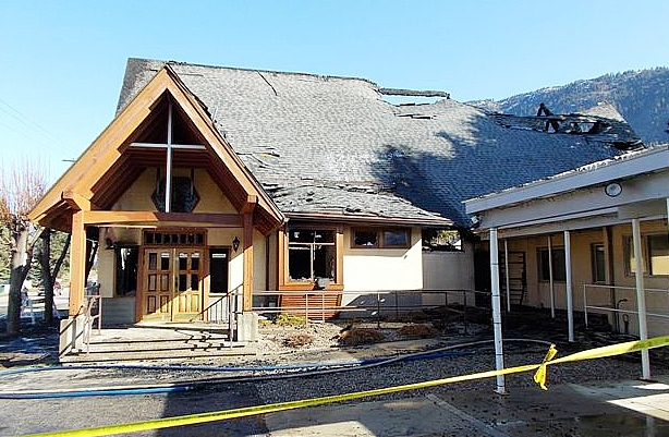 Two local teenagers have been charged in connection with two Castlegar fires, including one that destroyed a large portion of St. Rita's Catholic Church.