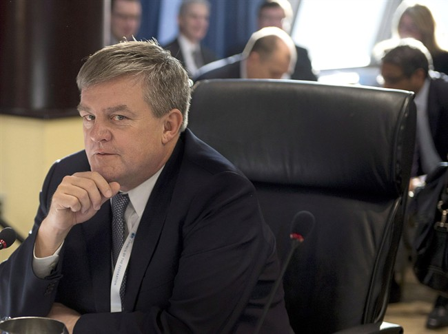 File photo: New Brunswick Premier David Alward says he has no plans to visit a traditional First Nation longhouse that has been erected across the street from the provincial legislature to protest shale gas exploration.