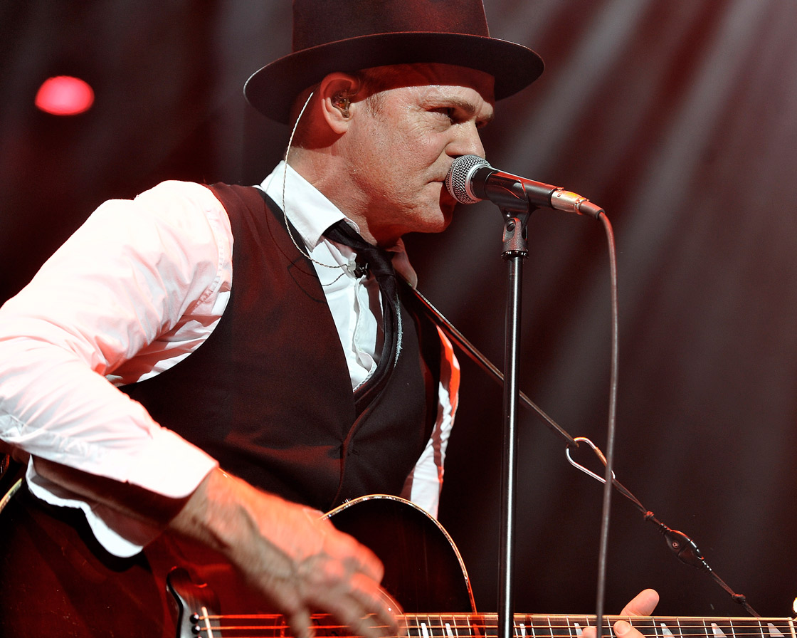 Lead singer Gord Downie of the Tragically Hip performs at Air Canada Centre.
