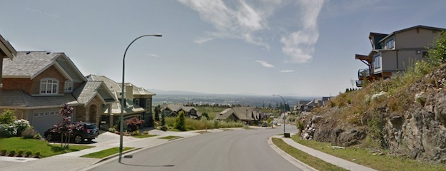 A view from Eagle Mountain Drive, looking down towards Abbotsford.
