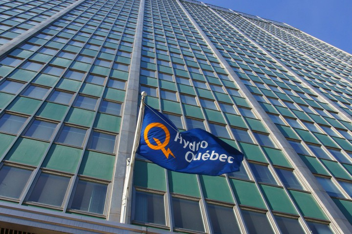 A file photo of Hydro-Québec headquarters in Montreal.