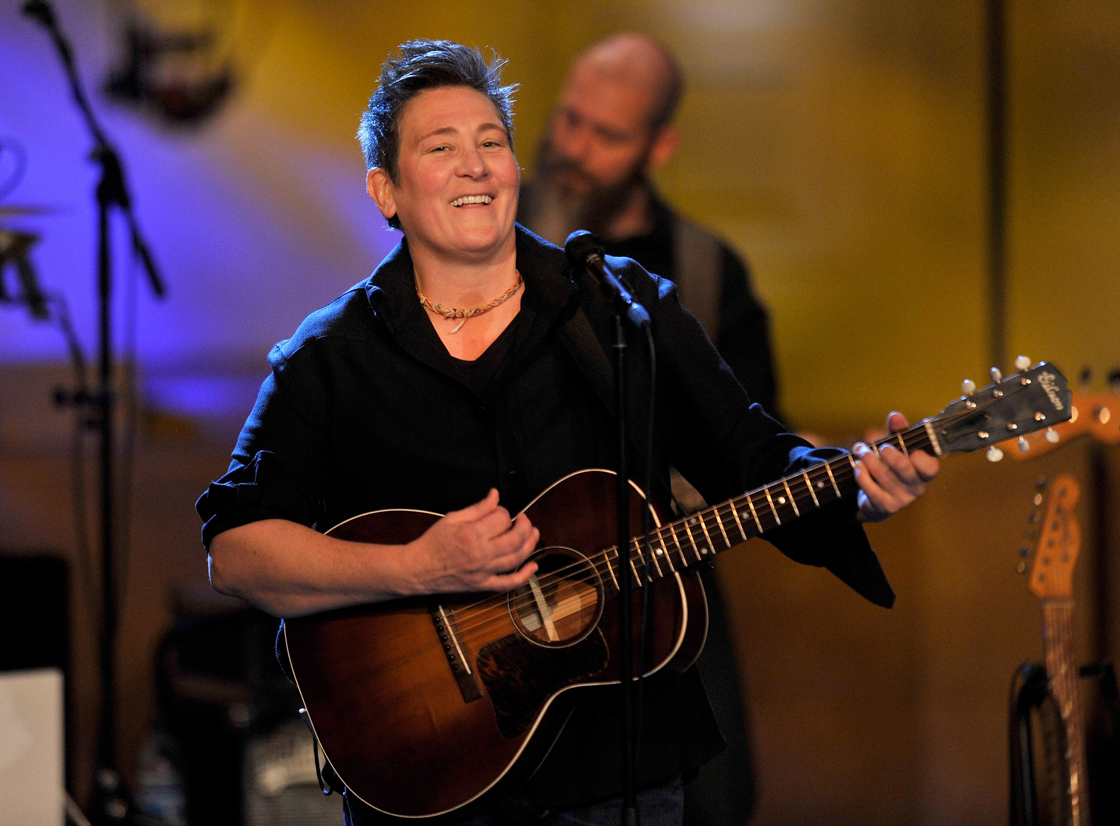 Canadian singer k.d. lang pictured in concert in a file photo.