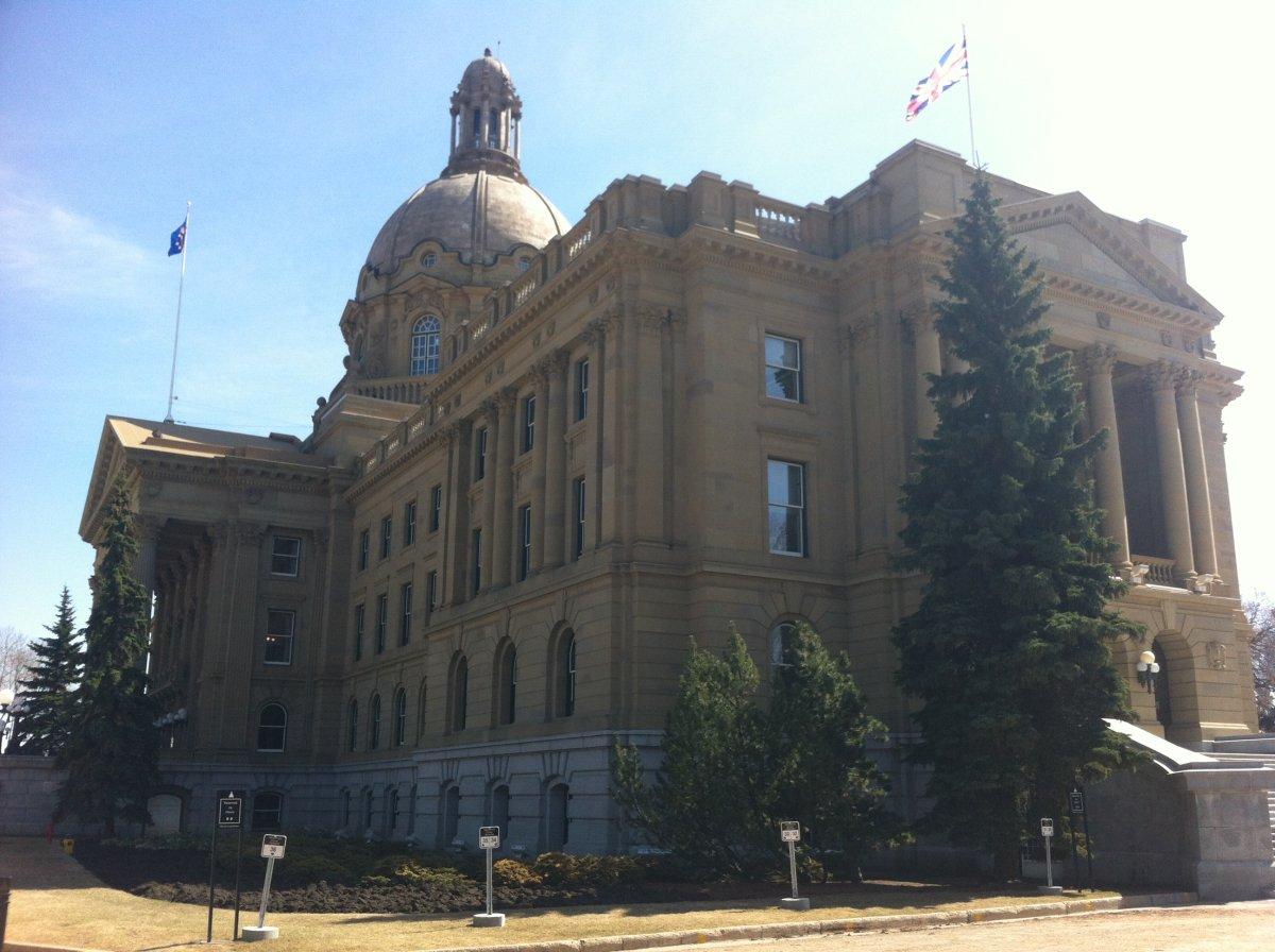 The Alberta Legislature, in Edmonton, Alberta.