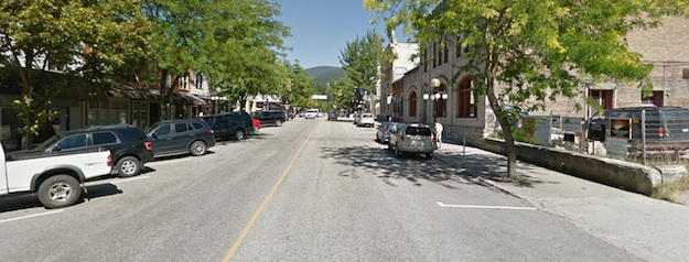 The view on Baker Street looking east in downtown Nelson.