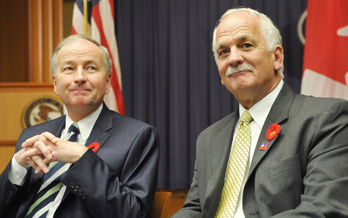 Justice Minister Rob Nicholson and Public Safety Minister Vic Toews began meetings with victims of crime for input on the Canadian Victim's Bill of Rights.
