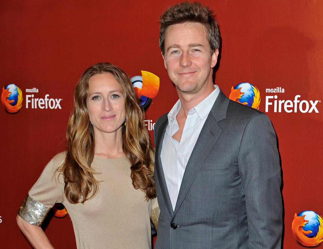 Shauna Robertson and Ed Norton in May 2012.