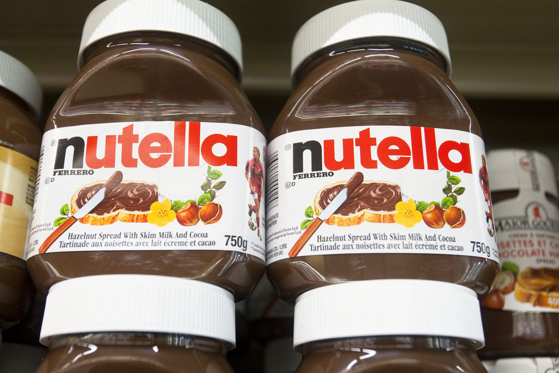 Nutella Hazelnut spread products are seen in a Metro grocery store in Quebec city March 4, 2009.