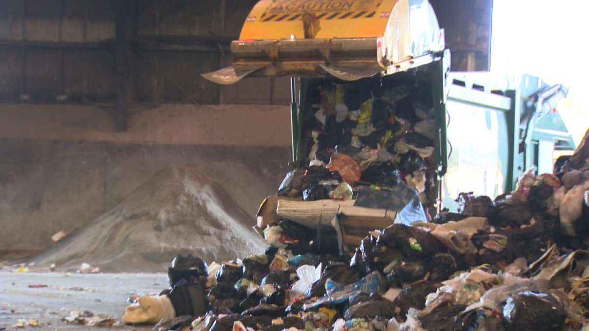 The heaps of garbage bags and other scraps are sorted then processed at the landfill.