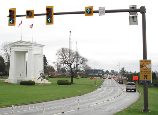 Peace Arch crossing.