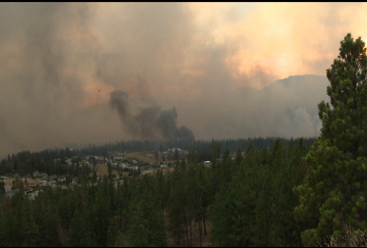 In September 2012, four structures were destroyed in the fast moving Trepanier wildfire that started near Peachland. Residents are being warned to expect more of the same this year.