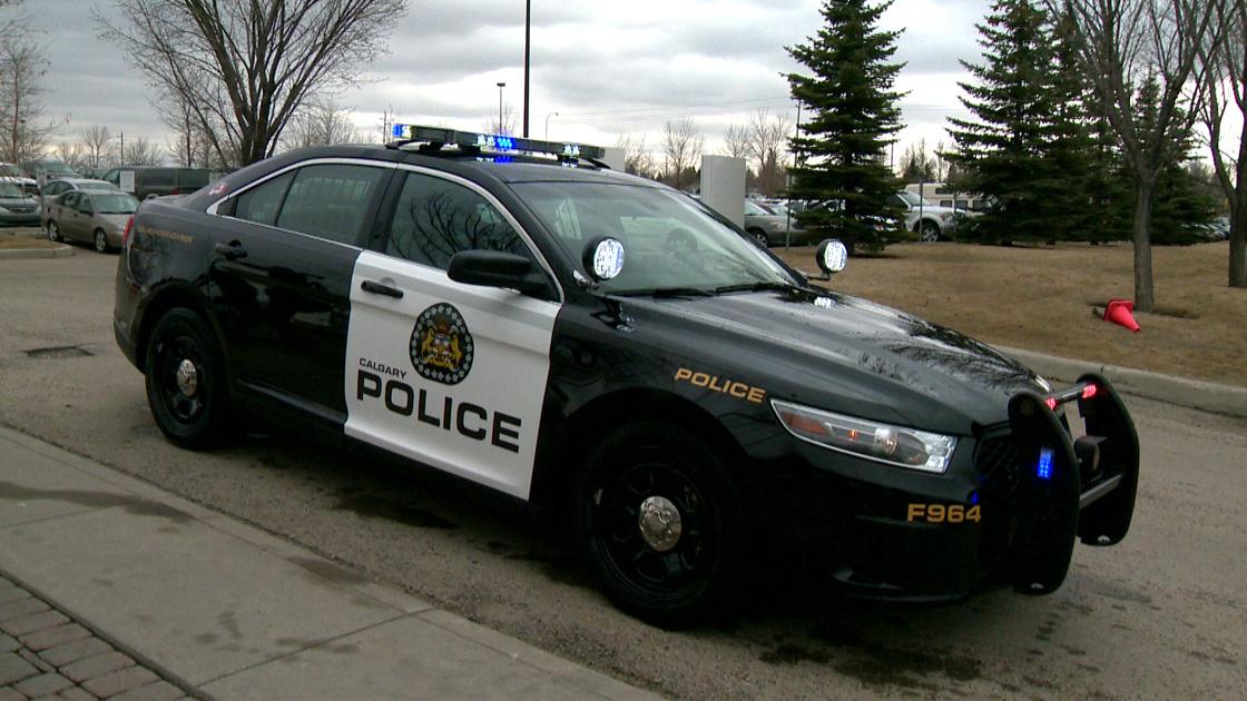 A Calgary police cruiser .