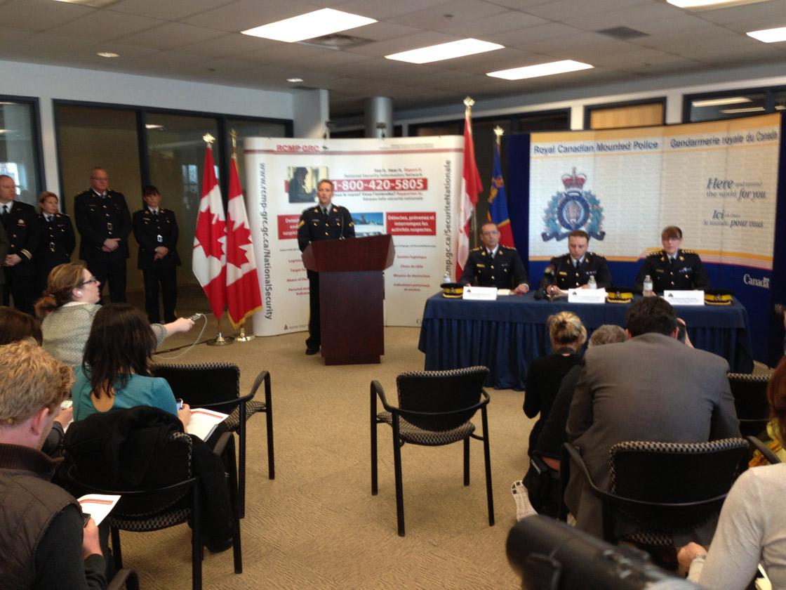 RCMP press conference