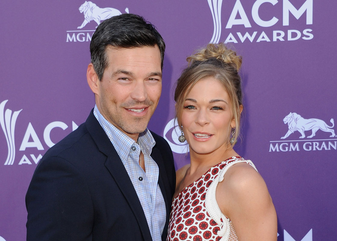 Eddie Cibrian and LeAnn Rimes pose together in April 2012.