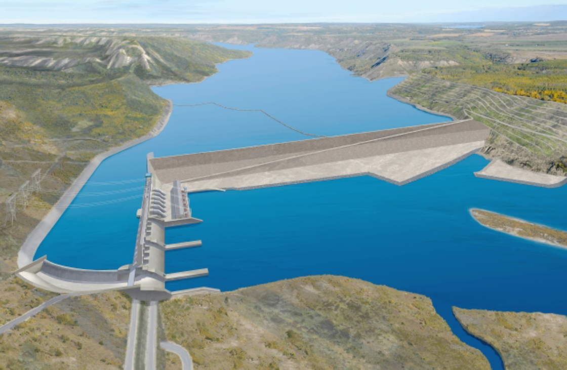 Artist rendering of the proposed Site C hydro dam, about seven km southwest of Fort St. John.