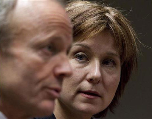 Stockwell Day is pictured next to Christy Clark.