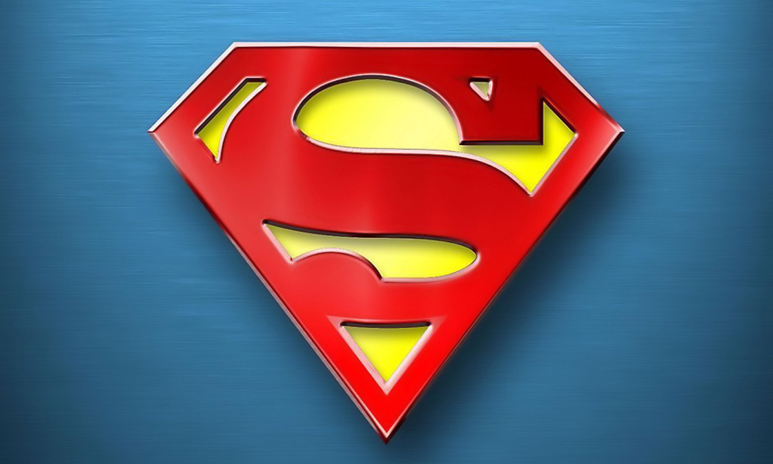 The iconic Superman logo.