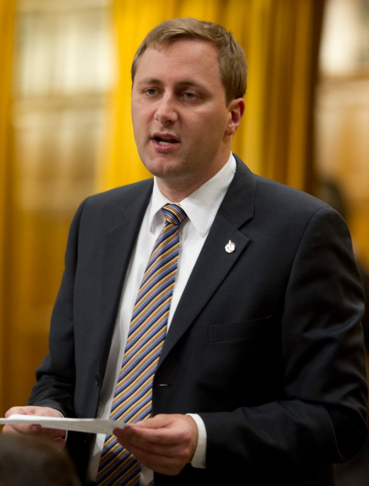 Conservative MP Brad Trost rises in the House of Commons on Parliament Hill in Ottawa, Thursday February 17, 2011.