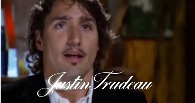 A screen shot of the attack ad against Liberal leader Justin Trudeau.