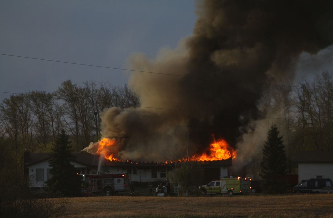 House fire south of Edmonton in Leduc County, May 14, 2013.
