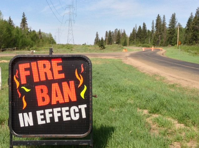 As of noon Thursday, most open fires are banned across B.C.