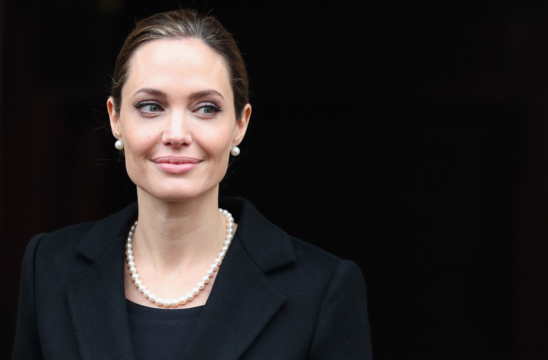 Angelina Jolie, pictured in early April, has revealed she underwent a double mastectomy.