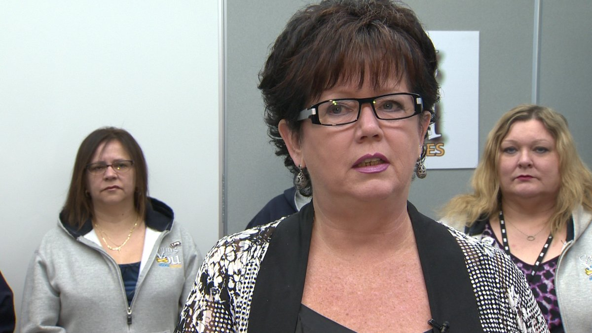 NSGEU President, Joan Jessome, speaks at the launch of Nurse Week 2013 (May 6, 2013). The union released a survey of Nova Scotia nurses who say they're chronically overworked.