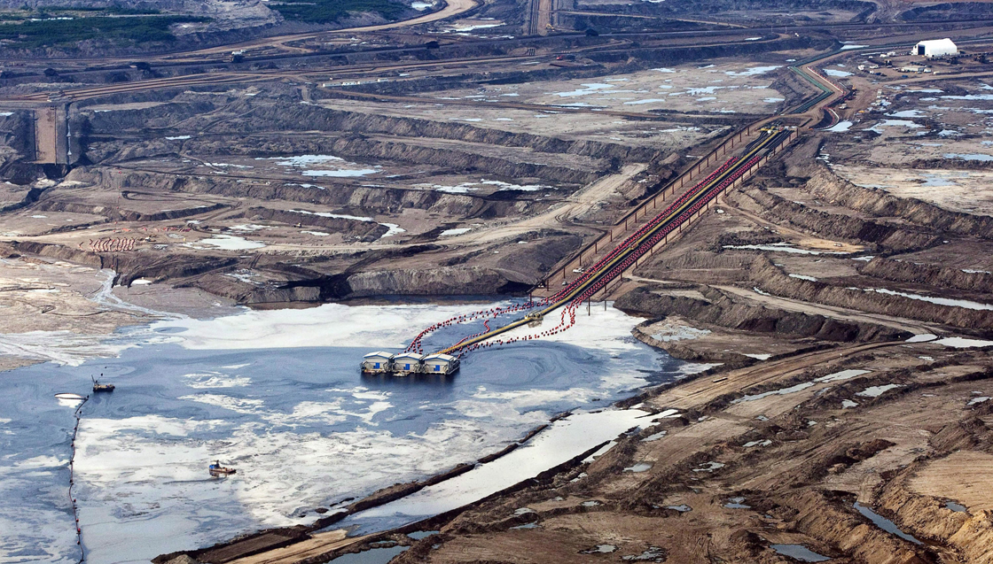 An oil sands facility seen from a helicopter near Fort McMurray, Alta., on July 10, 2012.